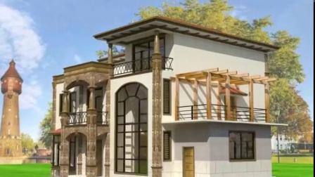 欧式别墅设计,农村自建房,狮子座建房设计