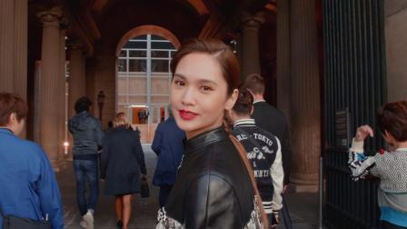 【時裝週大明星的一天】陪楊丞琳到羅浮宮看LV大秀 出發秀場表情超多 太可愛!