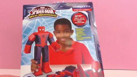 Ultimate Spiderman DIY 手工自制 蜘蛛侠 折纸 玩具组套装 开箱 组装 展示