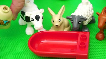 仿真农场积木玩具