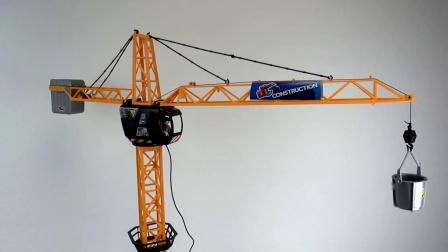 儿童仿真 巨型起重机 吊车 米高 玩具 组套装 组装 展示