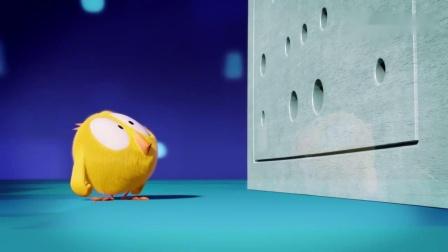 小鸡Jaki小鸡不知熨斗器,先被热气烫,又被熨斗给压扁