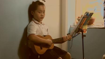 6岁小朋友尤克里里独奏《虫儿飞》-时光双语吉他教室