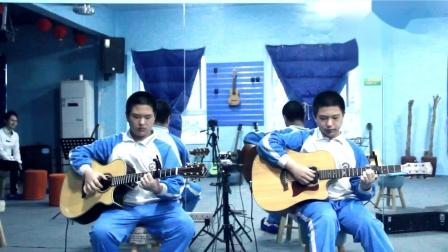 双胞胎翻弹陈亮《无题》-时光双语吉他教室