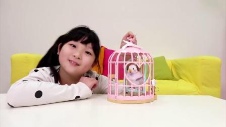 仿真小宠物会模仿说话的公主小白鸟