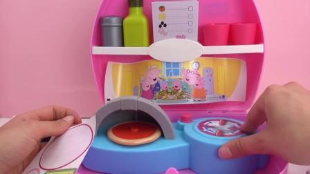 粉红猪小妹 野餐套装 美味的 批萨 整体厨房 自制 烘培批萨  展示