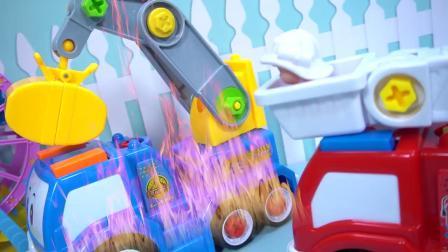 可拆卸的起重机汽车玩具
