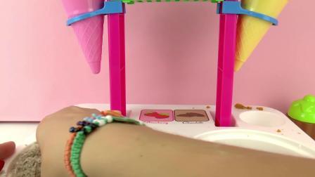 Ice Cream Shop 冰激凌 商店 儿童 沙滩  玩具组 套装 美味 甜品 雪糕 冷饮 商店 开箱 展示