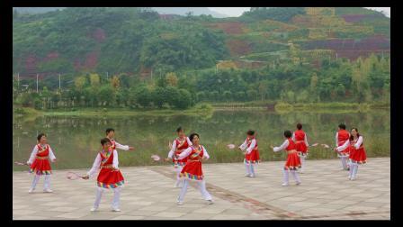 我和我的祖国合江县老年大学柔力球班庆祝新中国成立70周年主题班会