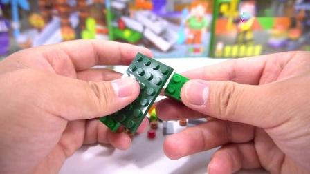 我的世界积木6合1终极场景6人仔建造夜色家园拼装玩具鳕鱼乐园