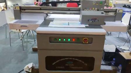 广州玻璃展越达YD-9060R4 uv平板打印机打样视频