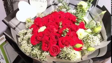 19朵红玫瑰花束老婆最爱