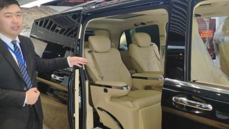 60万预算最热销MPV,2019款奔驰V260商务改装车视频
