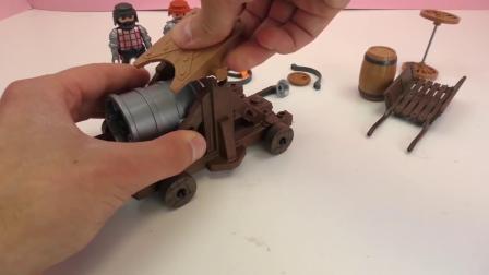 摩比游戏  中世纪 英勇骑士 巨型大炮 玩具组 套装 组装 展示
