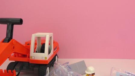 摩比游戏  炫酷 巨型 铲土车 推土车 套装 开箱 组装 展示