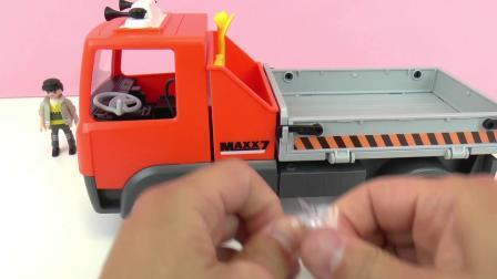 摩比游戏  炫酷 巨型 铲土车 推土车 汽车 模型 玩具组 套装 组装 展示