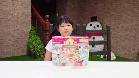 【玩具】梦幻蛋糕屋,超可爱蛋糕玩具制作[NyoNyoTV妞妞TV玩具]