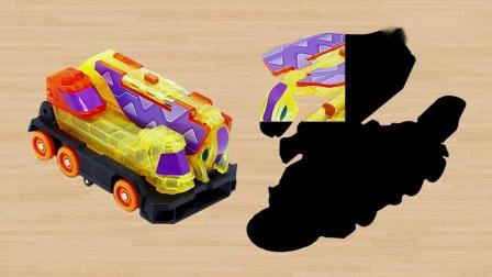 爆裂飞车3学习认识极寒冰怒涛扰流等战车夺晶变形玩具