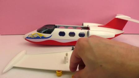 摩比游戏 欢乐夏日 系列  炫酷 民航 客机 假日 飞机 玩具组 套装 展示