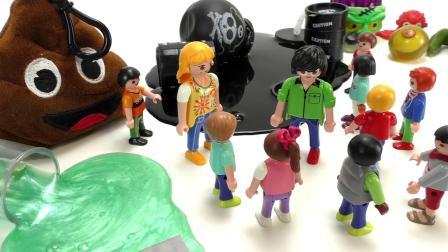 摩比游戏 电影 Film 阳光 幼儿园 史莱姆  黏黏胶 鼻涕胶 游乐园 公园 参观 展示