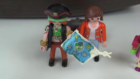 摩比游戏 电影 幼儿园小朋友参观加勒比海盗博物馆 展示