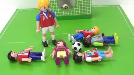 摩比游戏 电影 蕾娜 克丽丝 一起l 联系 踢足球 锻炼 运动 体育课 展示