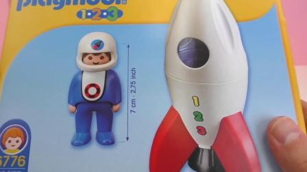摩比游戏 系列 登月 火箭  冲向 宇宙  玩具组 套装 组装 展示