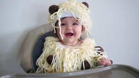 素食宝宝疯狂喜欢人造肉肉丸!简易婴儿万圣节服装DIY