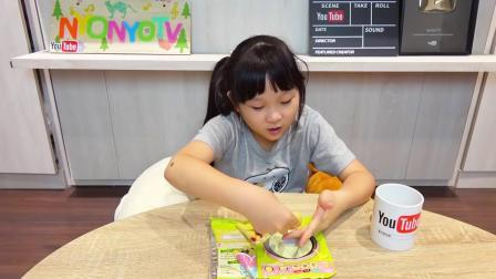 000000Kracie知育果子可丽饼店DIY手作食玩[NyoNyoTV妞妞TV玩具]