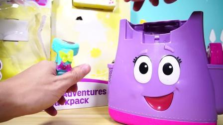 佩佩猪 小猪佩奇的背包玩具和沙滩城堡玩具 Peppa Pig's Schoolbag Toys