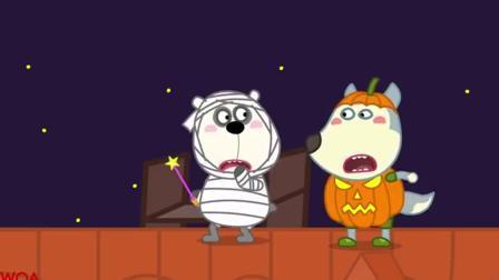 儿童卡通片:小伙伴们在一起举行万圣节派对