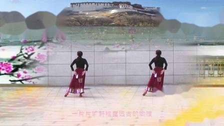 兰州春韵广场舞—藏族舞《花开的地方》编舞 春英
