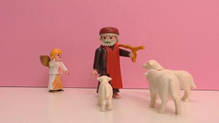 摩比游戏 小电影 马厩里 出生 了耶稣 展示