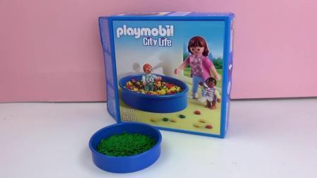 摩比游戏City Life  城市 生活 系列  室内  球池 游乐园 套装 开箱 展示