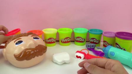 Play Doh 培乐多 彩泥 套装 蛀牙 先生 DIY 手工 制作 彩虹 彩色 橡皮泥 牙齿 刷牙 洗牙 展示