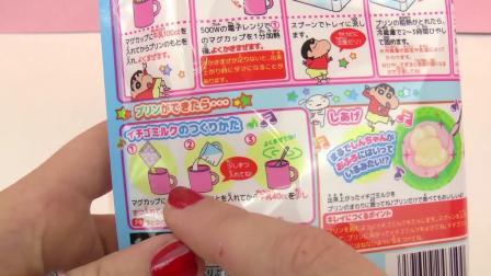 日本 DIY 手工 料理 套装 Crayon 蜡笔小新 小狗 小白 自制 香草 奶油 布丁 牛奶 简易 展示