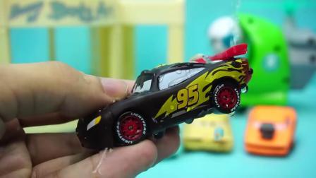 赛车总动员 四辆变色的小汽车 迪士尼 玩具 汽车总动员