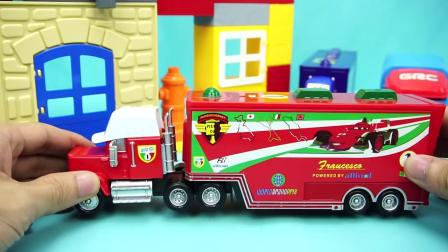 赛车总动员 小赛车与货柜车 汽车总动员 玩具 迪士尼