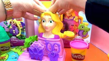 Play Doh 培乐多 迪士尼 魔法奇缘 Tangled 长发 公主 魔法 城堡 套装 对比 比较展示