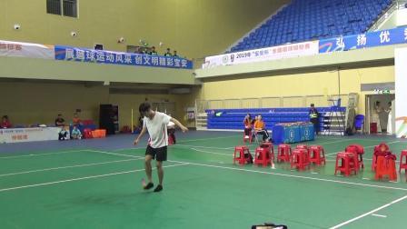 2019年全国毽球锦标赛花毽男子自选第三名—谢维俊