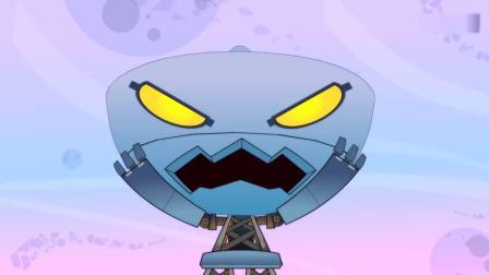 开心超人:大大怪命令机器人袭击,结果机器人袭击了他和小小怪!桃子姐姐发现了外星人的飞船,外星人可能已经入侵星星球了!