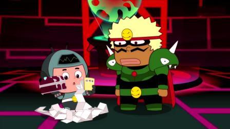 开心超人:大大怪让小小怪拿私人武器,不料小小怪拿来了马桶塞!小小怪拿来了终极武器,结果小小怪却不知道怎么用!