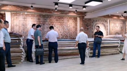 热烈欢迎昆玉市领导莅临天匠地毯