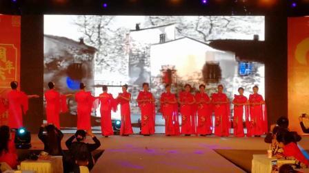 旗袍秀水墨兰亭—华地财富广场二年庆。摄像﹕永森