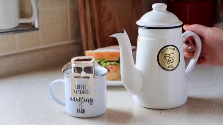 早安❤️2019.9.26☀️今天的三文鱼三明治🥪能量满满💪咖啡已经扎扎实实成为了生活中的一大部分