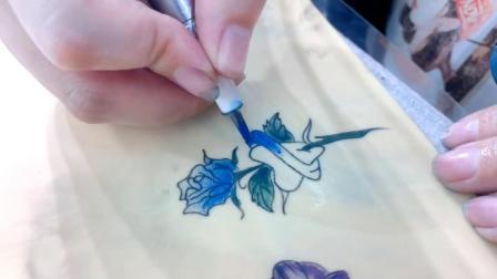 实拍学员小纹身图案练习中