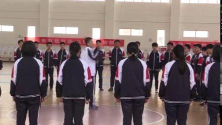 篮球双手胸前传接球与四角传球技术组合一等奖-高中体育优质课 2019