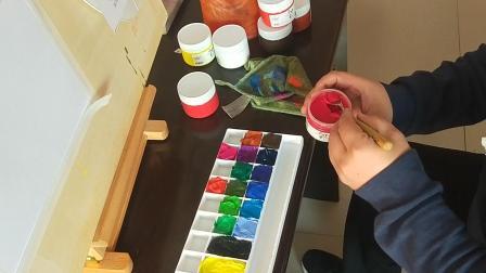 第一课  《水粉画工具介绍》