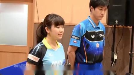 福原爱和泰国选手比赛,情急之下狂飙东北话,逗乐了一旁的王楠!