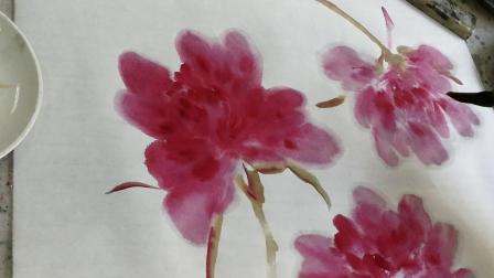 刘振强老师授课视频~牡丹花头的画法2(20191021)